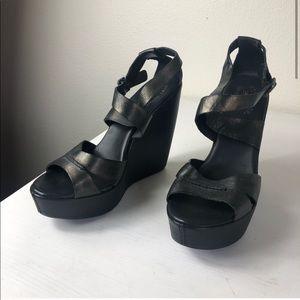 KORK-EASE GRACEN Wedge Leather X Strap Sandals